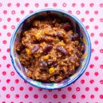 Chili sin carne mit reichlich Bohnen